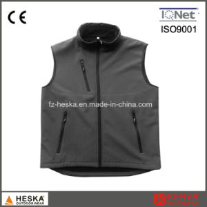 Wholesale Casual Safety Waistcoat Softshell Men Vest pictures & photos