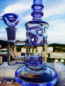Wholesale 9 Inch Purple Handblown Glass Water Pipe pictures & photos