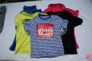 Recycling Second Hand Men Short Sleeve Men T-Shirt Used Clothes Italy Style pictures & photos