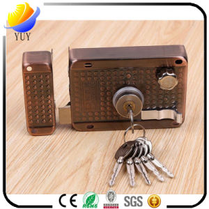 High Grade Three Insurance Old Mortise Lock Cross Anti-Theft Lock pictures & photos