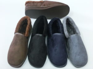 Men Indoor Comfort Warm Slipper for Winter pictures & photos