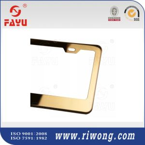 Shinny Golden Color Car License Plate Frame pictures & photos