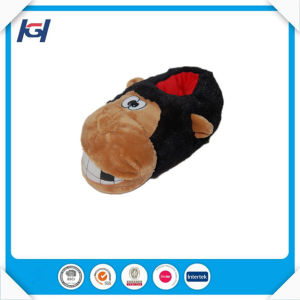 Novelty Plush Gorilla Animal Shaped Slippers for Adults pictures & photos