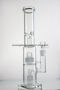 Glass Smoking Pipe with Recycler and Two Tyre Percalator and Thickness Base and Mouthpiece pictures & photos