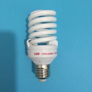 22W 24W 26W Full Spiral Halogen/Mixed/Tri-Color 2700k-7500k E27/B22 220-240V Energy Saving Lamp pictures & photos
