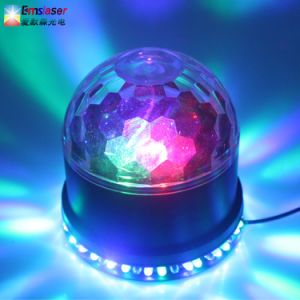 LED 6 Color Changes Sound Actived Crystal Magic Ball Sunflower Colorful Light Stage Party Light pictures & photos