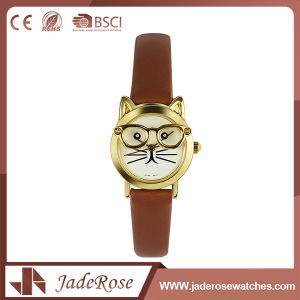 Custom Leather Wrist Watch for Girls pictures & photos