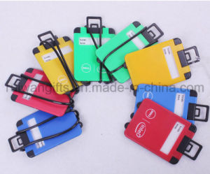 Plastic Luggage Shape Tag, Airplane Travel Luggage Tag pictures & photos