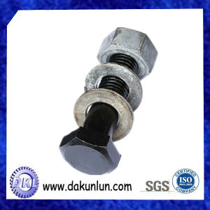 Customized Black Screw with Nut in China