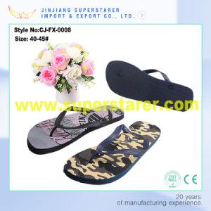 Anti-Slip Men Flip Flops, Print Wholesale Flip Flops pictures & photos
