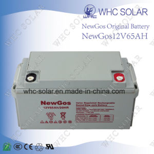 Green Energy 12V65ah Deep Cycle Gel AGM Sealed Lead Acid Battery pictures & photos