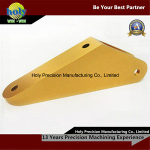 Yellow Anodized CNC Aluminum Parts Custom Connector CNC Parts pictures & photos