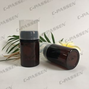Plastic Skincare Packaging Amber Pet Bottle with Powder Cap (PPC-PB-065) pictures & photos