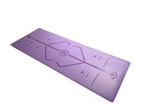 PU Polyuethane Yoga Mat Laser Engrave Pattern Great Grip Wet and Dry pictures & photos