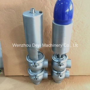 Sanitary Pneumatic Stop and Reversing Valve with Position Sensor pictures & photos