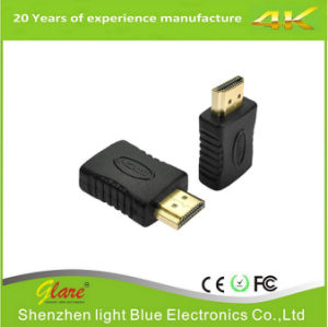 Wholesale Gold Plate HDMI Male to Female Adapter pictures & photos