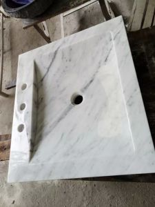 Rectangular Carrara White Marble Sink pictures & photos