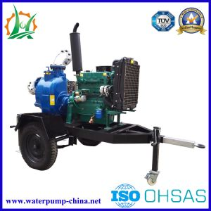 Trailer Mounted Self Priming Sewage Diesel Pump pictures & photos