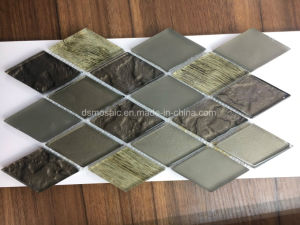 Diamond Shape Luxuary Style Glass Mosaic Tile pictures & photos