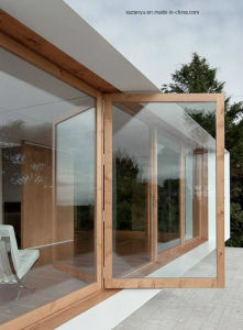Aluminum Sliding Windows and Door/Hurricane Proof Solid Wood Case Window pictures & photos