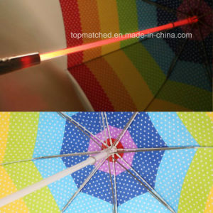23 Inch LED Shaft Gift Umbrella with LED Torch Umbrella pictures & photos