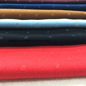 Concave-Convex Silver Yarn Wool Fabric Woollen pictures & photos