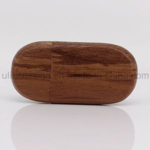 Round Shape Wooden USB Flash Drive (UL-W011) pictures & photos