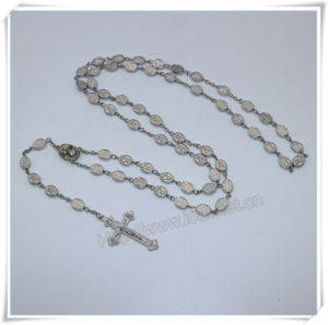 Metal Beads Rosary/Oval Beads Rosary/Religious Item/Catholic Rosaries/Virgin Mary Beads Rosary (IO-cr399) pictures & photos