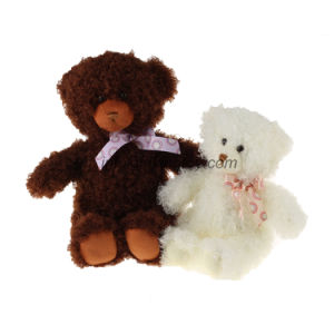 Fluffy Stuffed Toy Plush Teddy Bear with Neck Ribbon pictures & photos