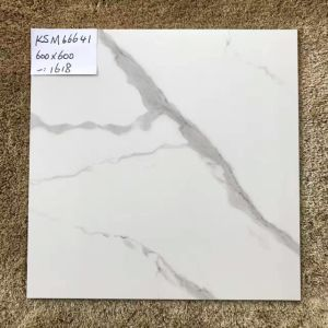 Building Material 60X60 White Marble Look Rustic Porcelain Tiles pictures & photos
