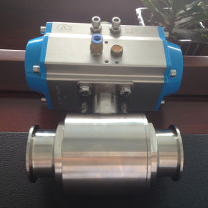 Pneuamtic Sanitary Ball Valve with Double Acting/Single Acting Pneuamtic Actuator pictures & photos