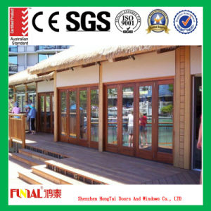 Hot Selling Tempered Glass Bifold Folding Door pictures & photos