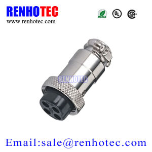 Metal Circular Aviation Connector Gx16-4 Socket Plug pictures & photos