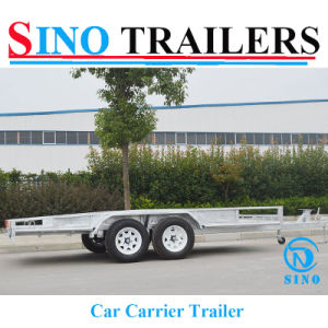 Fully Welded Galvanized Australian Flatbed Car Trailer with Ramp pictures & photos