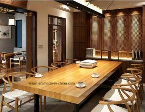 Hot Sell Fashion Style Solid Wood Dining Table and Chair (LL-WST001) pictures & photos