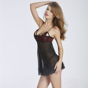 Hot Lingerie See Through Transparent Nighty Sexy Babydoll pictures & photos