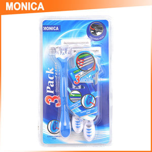 3PC Blister Pack Pink Women Disposable Shaving Razor pictures & photos