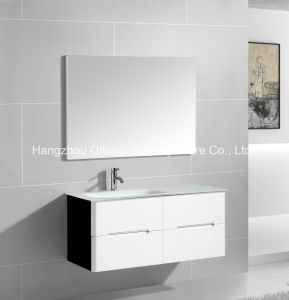 Mixed Wall-Mounted PVC+Melamine Bathroom Furniture pictures & photos