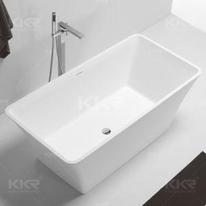 Acrylic Solid Surface Double Ended Freestanding Bathtub pictures & photos