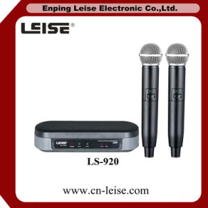 Ls-920 Good Quality Karaoke Double Channels UHF Wireless Microphone