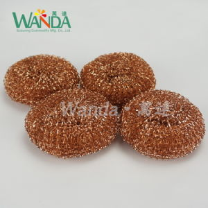 Washing Plated Copper Steel Wire Scourer Sponge Metallic Scourer pictures & photos