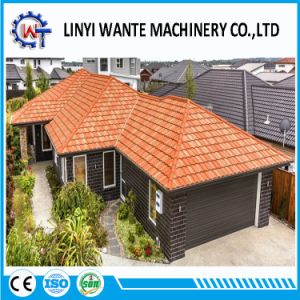 Corrugated Steel Building Material Slate Roof Tile with Stone Chips pictures & photos