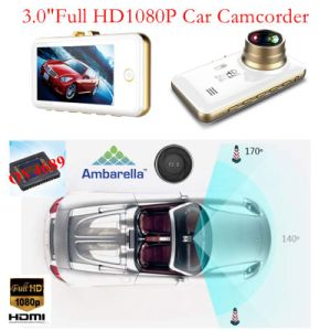 "3.0""Ambrella A7la50 Super 1296p Hdr 2k Video Resolution Car DVR Built-in Goole Map GPS Tracking Route Receiver, 5.0mega Ov4689 Car Black Box Dash Parking Camera pictures & photos"