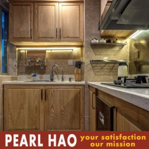 Modern Small Kitchen Design MDF Solid Wood Kitchen Cabinet pictures & photos