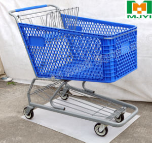 Plastic Convenient Retail Supermarket Shopping Trolley pictures & photos