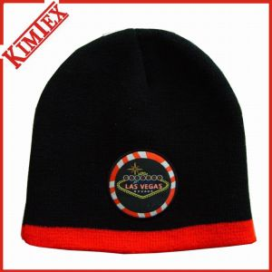 Winter Acrylic Knitted Embroidery Beanie pictures & photos
