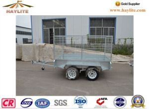 Haylite 8X5 Trailer with Cage Doubel Axle on Hot Sale pictures & photos