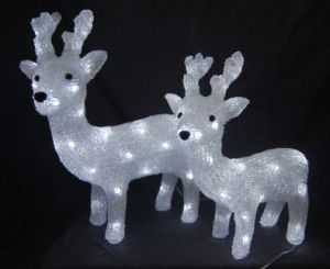 Acrylic Deer Light with LED (IL1219) pictures & photos