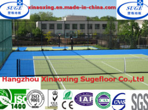 Anti-Agging Colorful Tennis Court Flooring Tiles pictures & photos