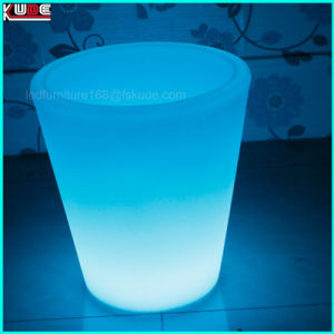 Round Ice Bucket Beer Cooler Color Changing Ice Bucket pictures & photos
